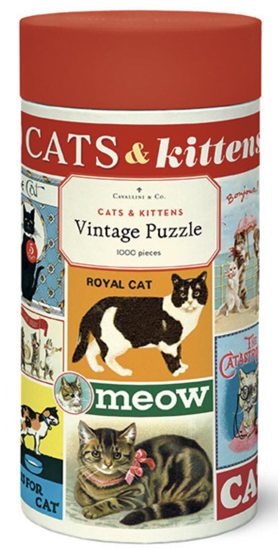 Cavallini Cats & Kittens 1,000 pc Puzzle