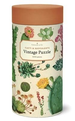 Cavallini Succulents 1,000 pc Puzzle