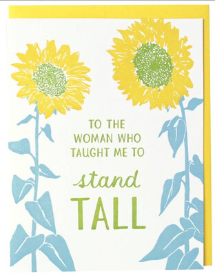 Smudge Ink Stand Tall Mother's Day Card