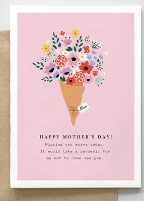 Spaghetti & Meatballs Missing Mother's Day Card