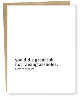Sapling Press Great Job Mother's Day Card