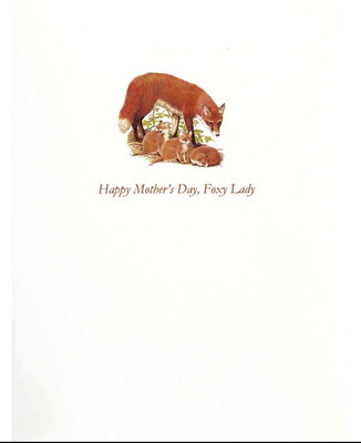Lumia Designs Foxy Lady Mother's Day Card