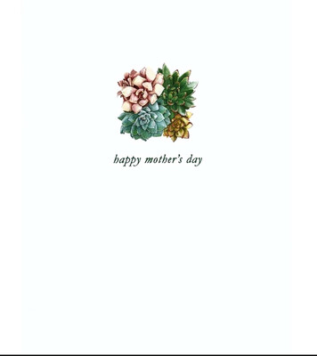 Lumia Designs Mother's Day Succulents Card