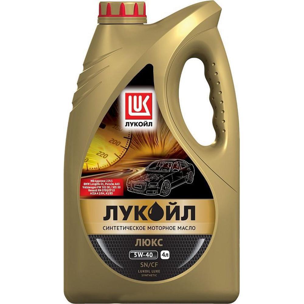 Моторное масло Лукойл Люкс 5W-40 SN/CF синт. 4л