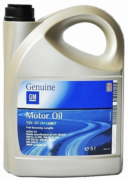 Моторное масло GM Motor Oil Dexos2 5W-30 SM/CF 5л