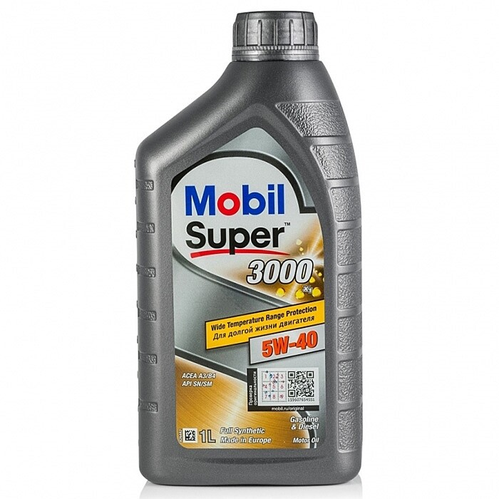 Моторное масло Mobil Super 3000 X1 5W-40 152567 1л
