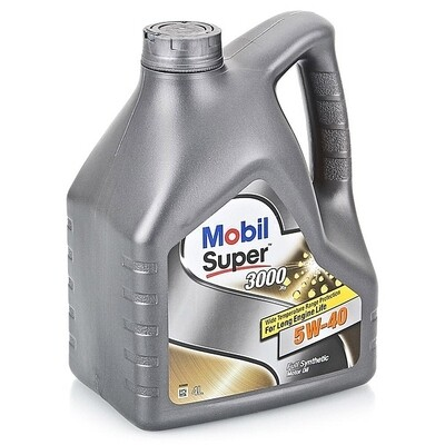Моторное масло Mobil Super 3000 X1 5W-40 152566 4л