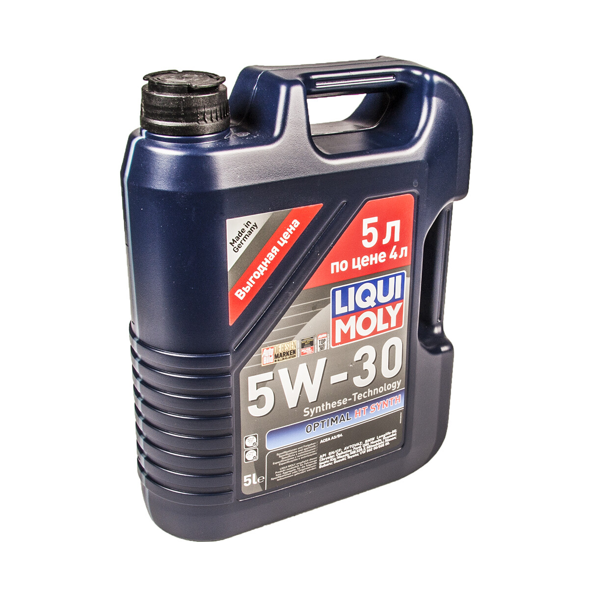 Моторное масло Optimal Synth 5W-30 SL/CF A3/B4 2292/39010 5л
