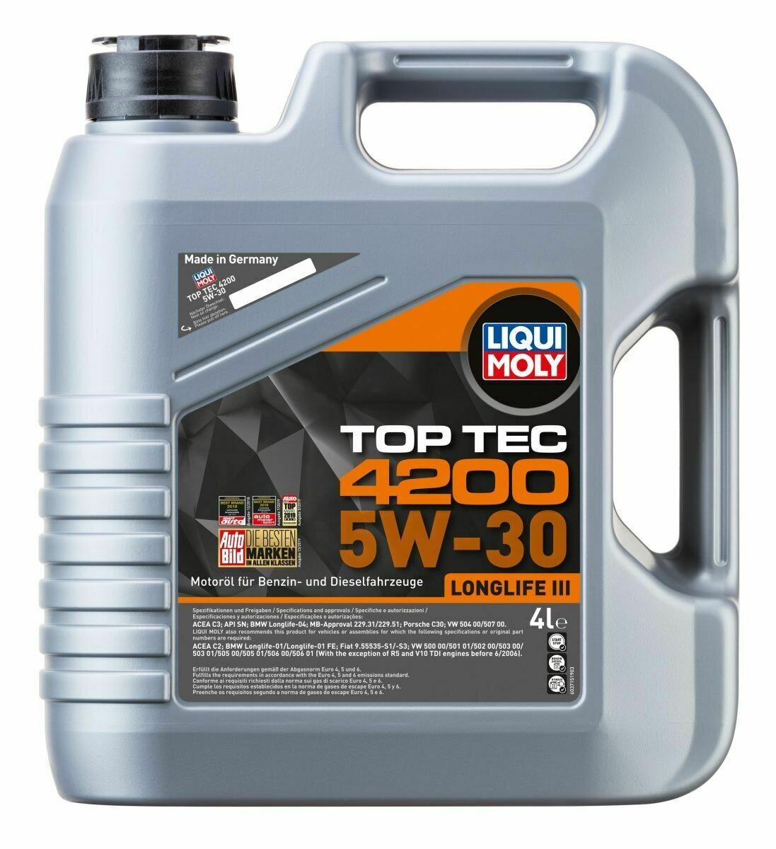 Моторное масло Top Tec 4200 5W-30 SN C3  4л