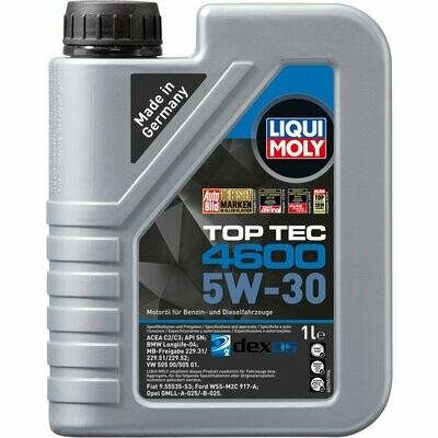 Моторное масло Top Tec 4600 5W-30 CF/SN C3 1л