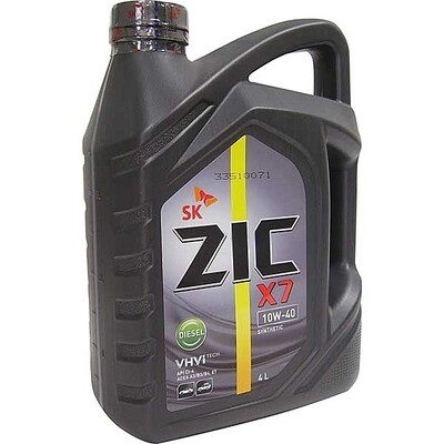 Моторное масло ZIC 5000 10W-40 X7 DIESEL 4л