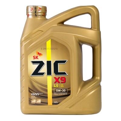 Моторное масло ZIC X9 LS 5W-30 SN/CF 4л