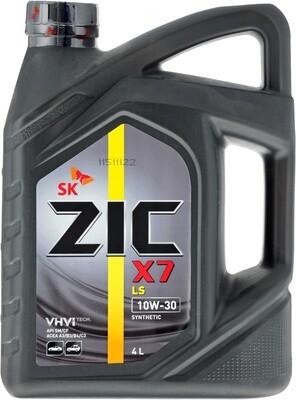Синтетическое моторное масло ZIC X7 LS 5W-30 SM/CF 4л