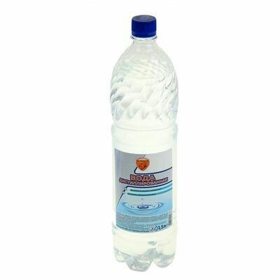 Дистиллированная вода 1,5 л ПЭТ-бутылка