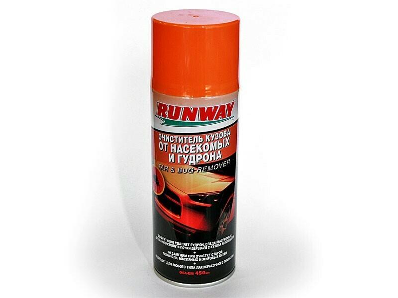 Очиститель кузова RunWay, от насекомых и гудрона, 450 мл