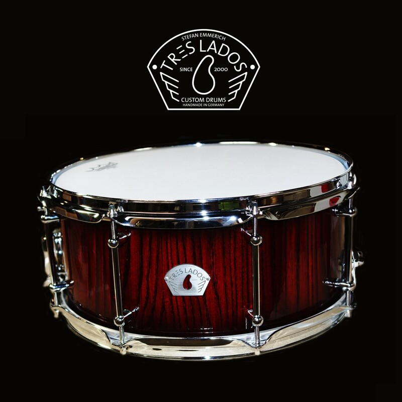TRES LADOS SNARE 14x6,5 RED ASH