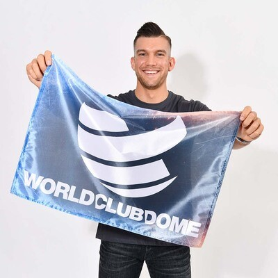 WORLD CLUB DOME FLAGGE KLEIN