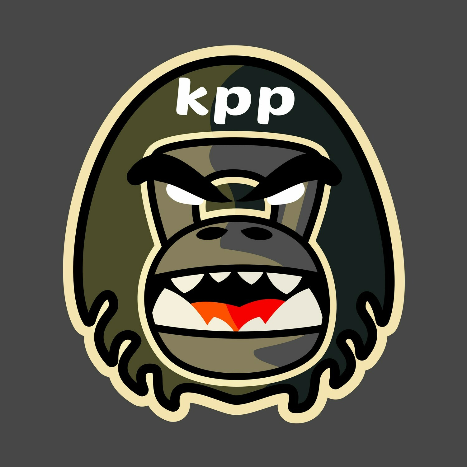 KPP gorilla head sticker