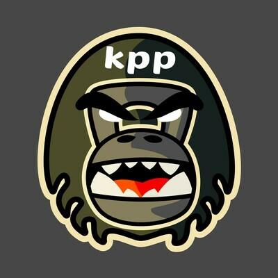 KPP gorilla head sticker