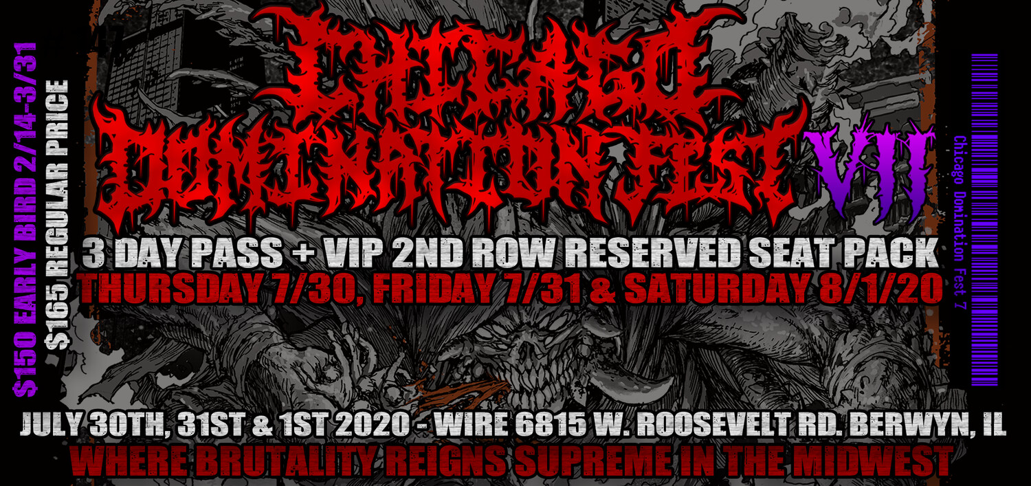 CDF 7 3 Day + 2nd Row Reserved Seat VIP Package