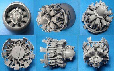 1/48 A-26B/C Invader engines set (ICM kit) Vector resin: VDS48125