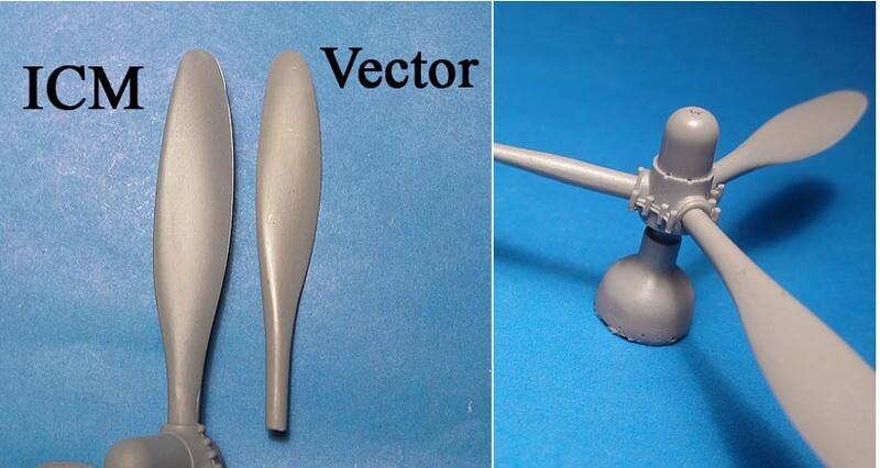 1/48 A-26B/C Invader propellers (ICM kit) Vector resin: VDS48126