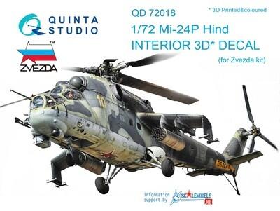 Quinta studio 1/72 Mi-24P 3D interior panels (Trumpeter kits) #QD72018