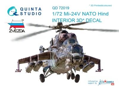 Quinta studio 1/72 Mi-24V Nato 3D interior panels (Zvezda kits) #QD72019