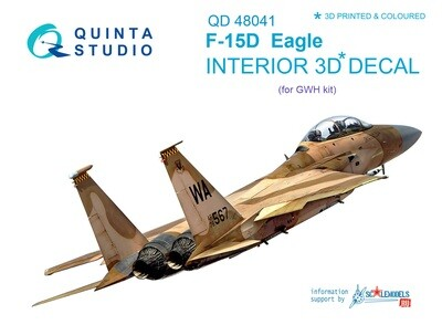 Quinta studio 1/48 F-15D 3D-Printed & colored Interior on decal paper (for GWH kit) QD48041
