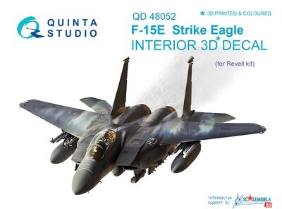 Quinta studio 1/48 F-15E Eagle 3D-Printed & colored Interior on decal paper (for Revell kit) QD48052