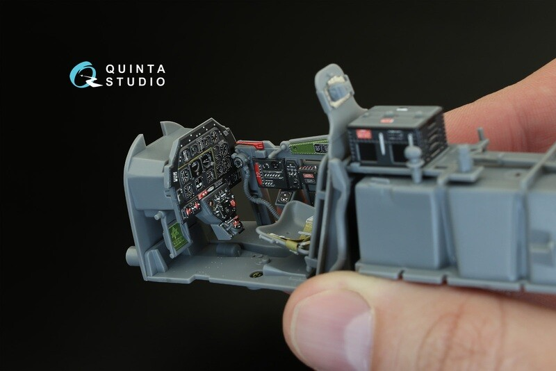 Quinta studio 1/32 P-51D Mustang (Late) 3D-Printed & colored Interior on decal paper (for Tamiya kit) QD32004