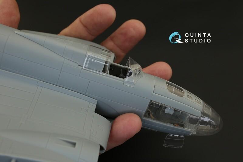 Quinta studio 1/48 IL-4 vacuformed clear canopy,Xuntong kit #QC48100