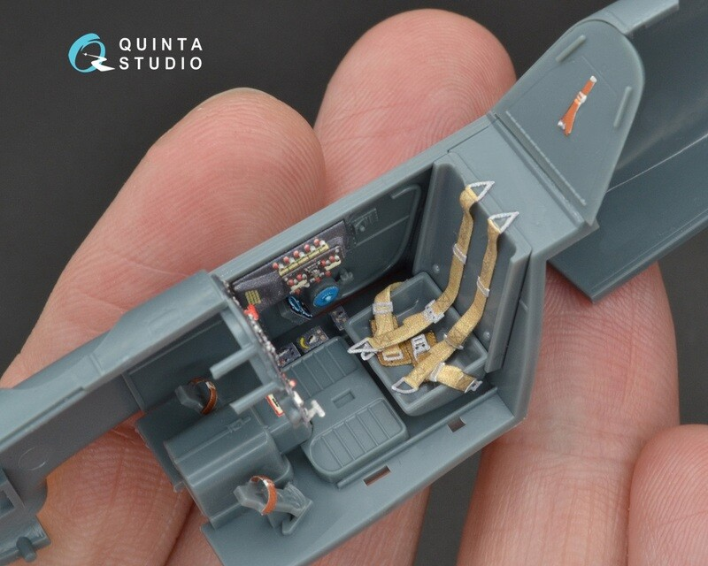Quinta studio 1/48 Bf-109G-6 3D-Printed & colored Interior on decal paper (for Eduard  kit)QD48094