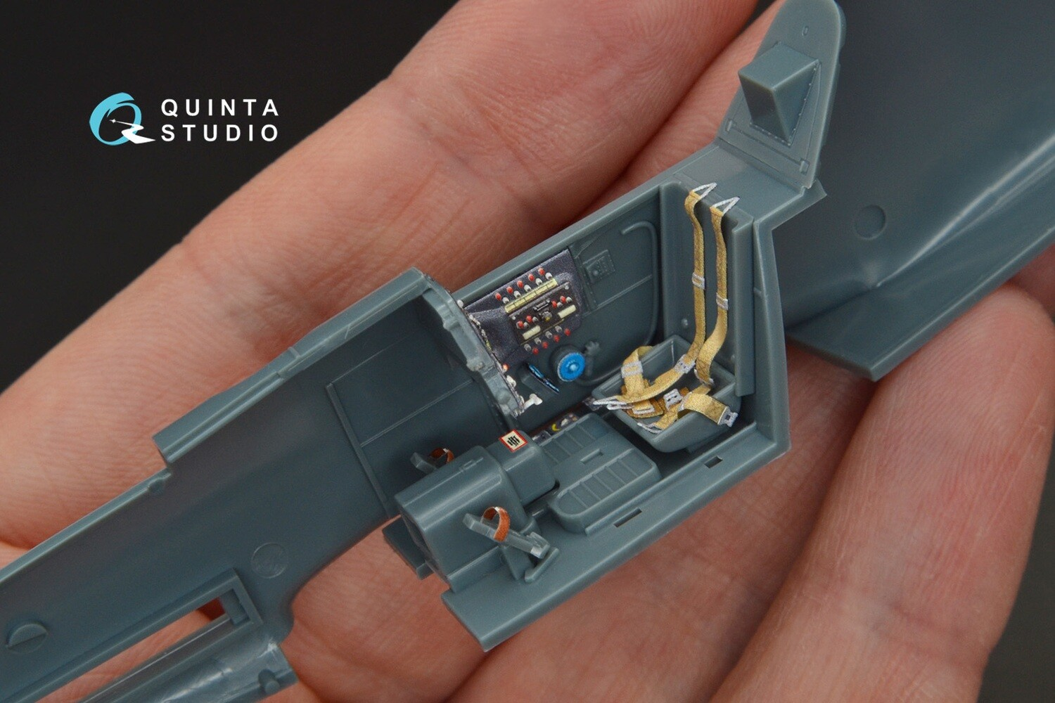 Quinta studio 1/48 Bf-109G-14 3D-Printed & colored Interior on decal paper (for Eduard  kit) QD48095