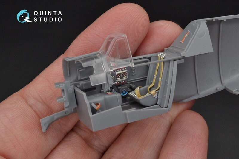 Quinta studio 1/48 Bf-109G-6 3D-Printed & colored Interior on decal paper (for Eduard  kit) QD48103