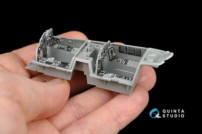 Quinta studio 1/48 F-15I 3D-Printed & colored Interior on decal paper (for GWH kit)  QD48112
