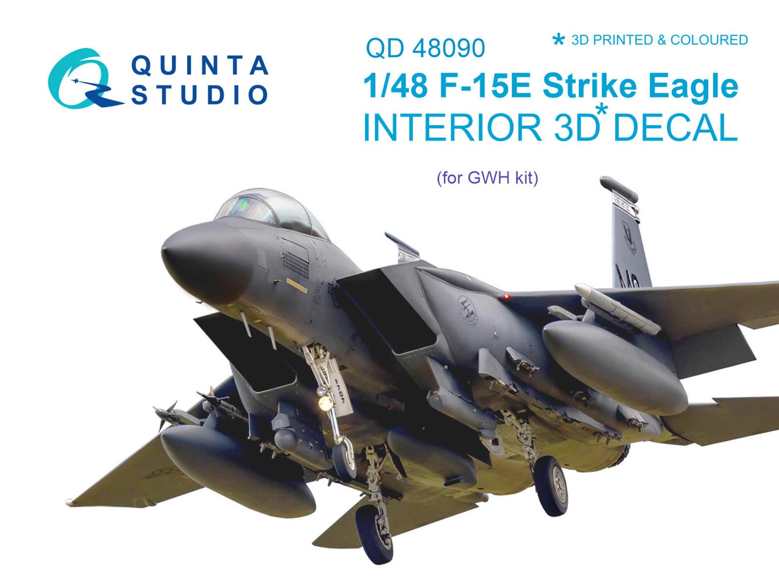 Quinta Studios QD48044 1//48 3D Interior Decal F//A-18С KINETIC early