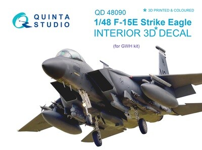 Quinta studio 1/48 F-15E 3D-Printed & colored Interior on decal paper (for GWH kit) QD48090