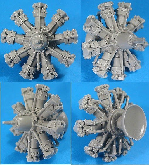 1/32 Bristol Mercury Engine Vector Resin #32-012