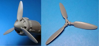 1/48 Junkers Ju 88A-4-A14 Corrected Propellor set (ICM) Vector Resin #VDS48-105