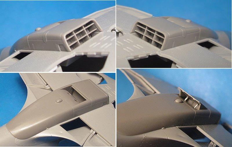 1/48 MiG-3 Corrected radiator (Trumpeter)  Vector resin #VDS48-120