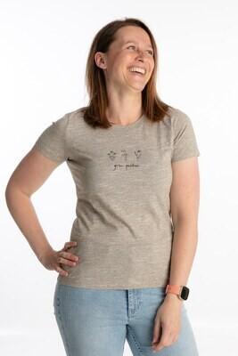 Wooden heather t-shirt grow positive