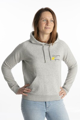 Heather grey hoodie lemon squeezy