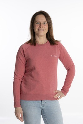 Cranberry crewneck out of office