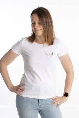 White t-shirt out of office
