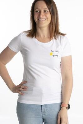 White t-shirt lemon squeezy