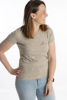 Wooden heather t-shirt I hope you dance