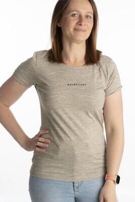 Wooden heather t-shirt Wanderlust