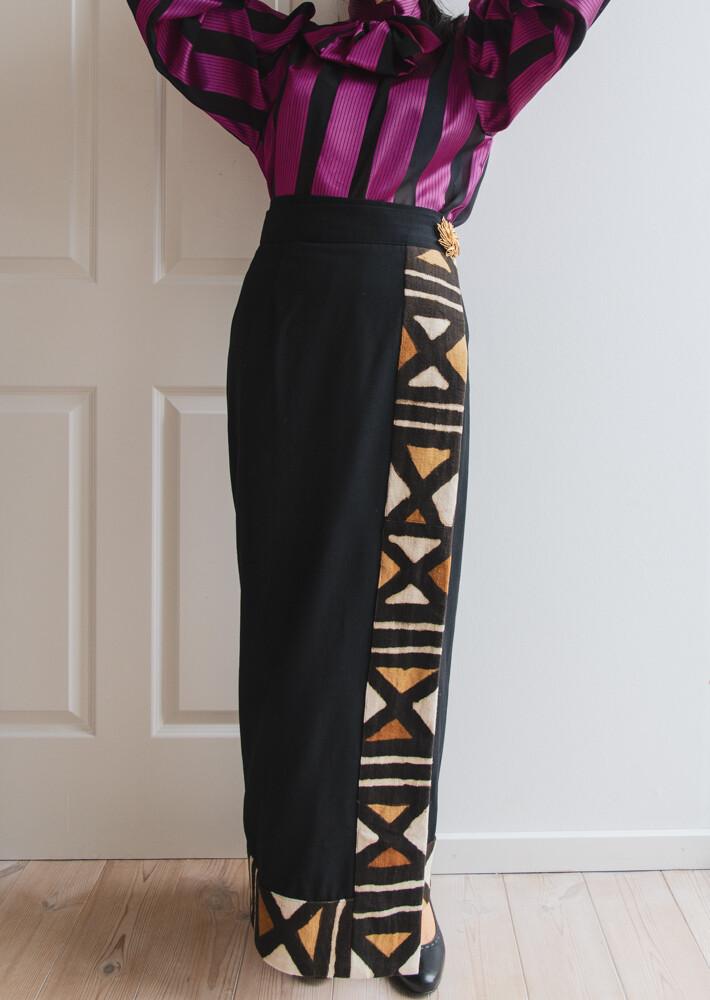 Africa silk skirt