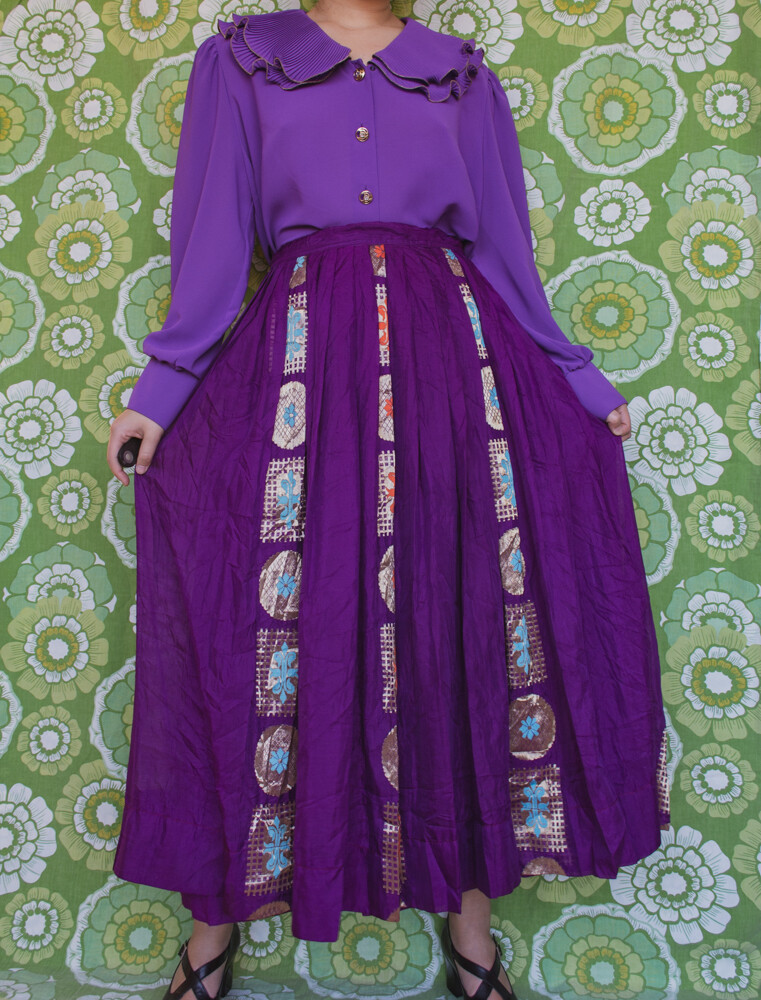 Purple exotic skirt
